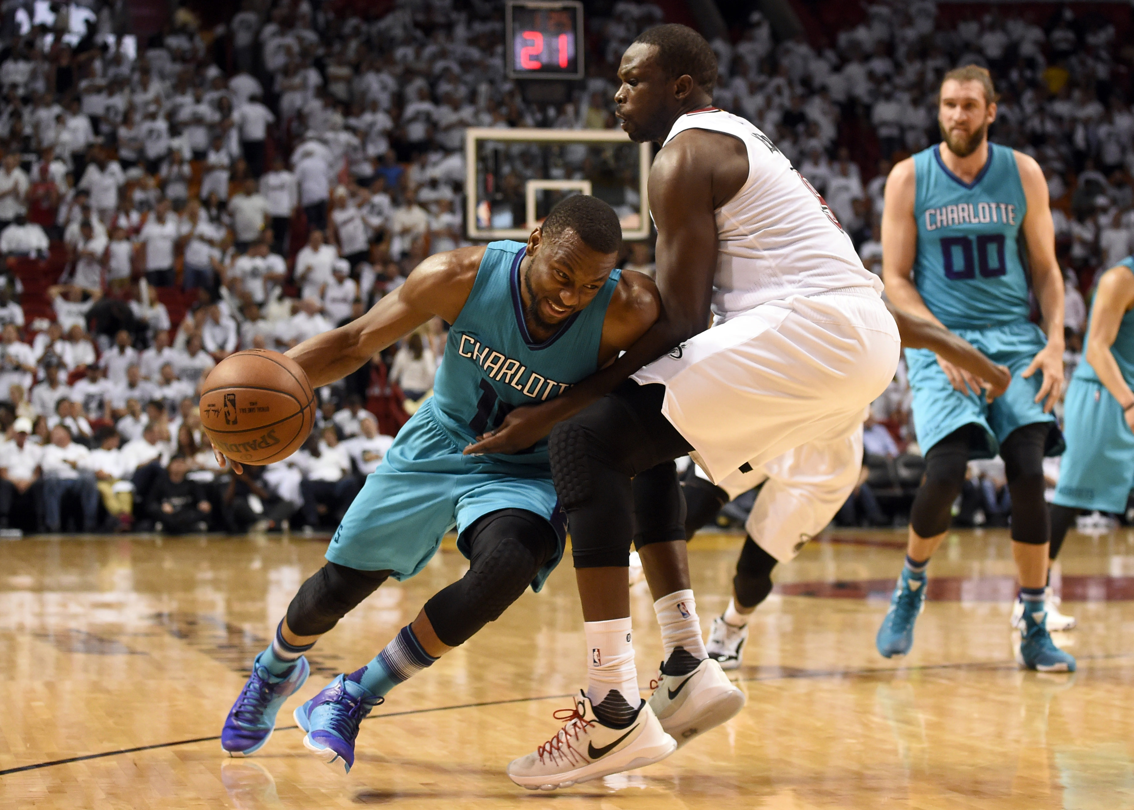 Miami Heat vs. Charlotte Hornets - Mandatory Credit: Steve Mitchell-USA TODAY Sports